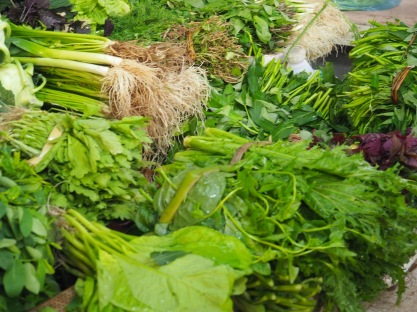 Herbs in the local market