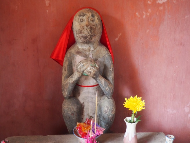 And finished during the year of the monkey....the dog and monkey are at either end of the inside of the bridge