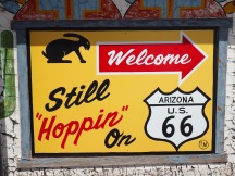 Signs along the highway drawing you in :)