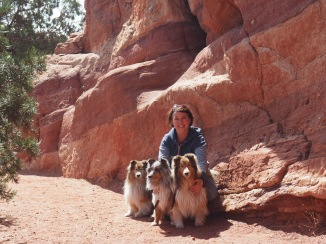 Our first photo at the Garden of the Gods - in awe!