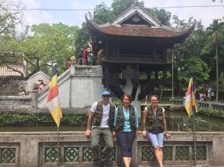 One Pillar Pagoda. Close to the mausoleum