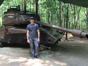 Captured American tank