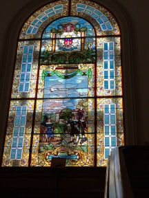 One of stained glass windows