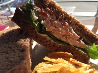 Lobster sandwich on rye....homemade, fresh bread