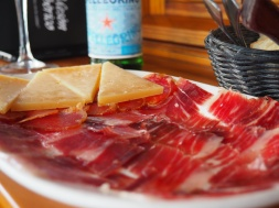 Iberico ham and cheese